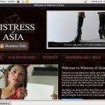 Mistress Of Asia Renew Membership